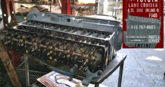 76 Toyota Land Cruiser FJ40 4.2 Engine Rebuilding