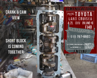 crank and cam toyota fj40 4.2