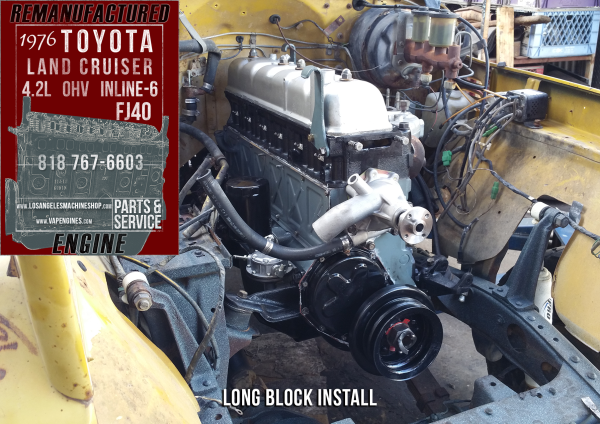 installed toyota FJ40 engine