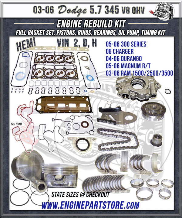 dodge hemi 5.7 engine rebuild kit