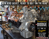 remanufactured Dodge 5.7 engine