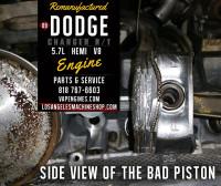 damaged piston