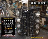 dodge hemi 5.7 short block