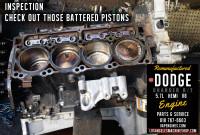 dodge hemi 5.7 battered pistons