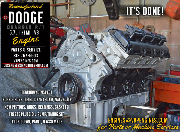 remanufactured Dodge Hemi 5.7 engine