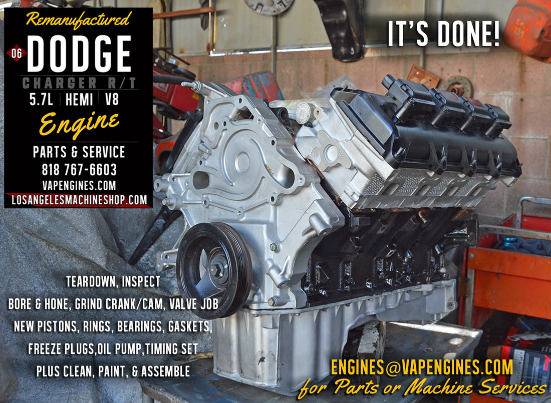 06 Dodge Charger Hemi 5 7 Engine Rebuild Los Angeles
