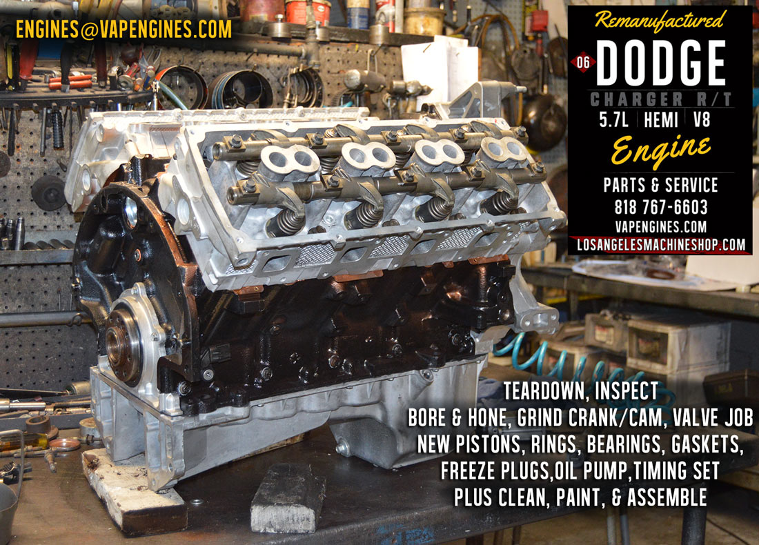 06 Dodge Charger Hemi 5 7 Engine Rebuild Los Angeles Machine Shop