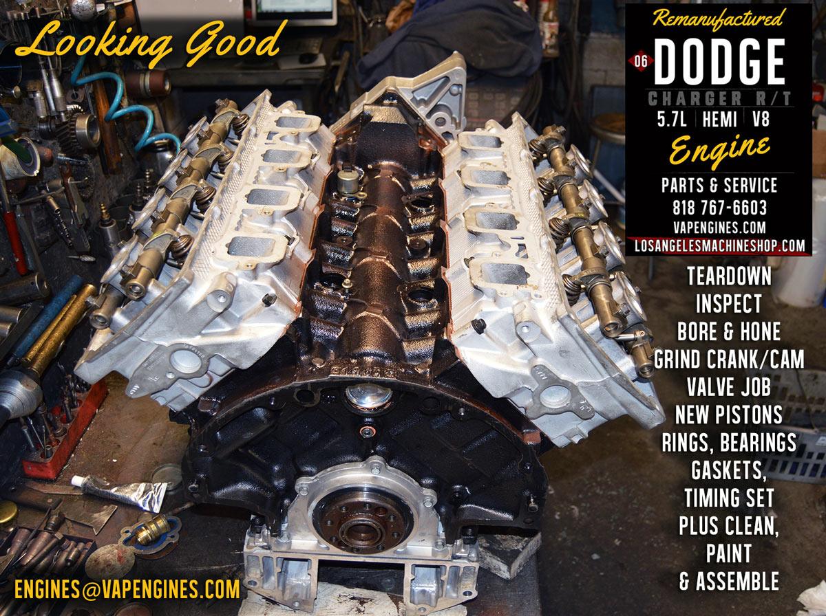 06 Dodge Charger Hemi 5.7 Engine Rebuild - Los Angeles Machine Shop- Engine Rebuilder|Auto Parts ...