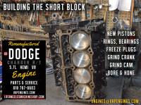 Rebuilt Dodge Hemi short block