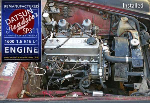 installed Datsun 1600 engine