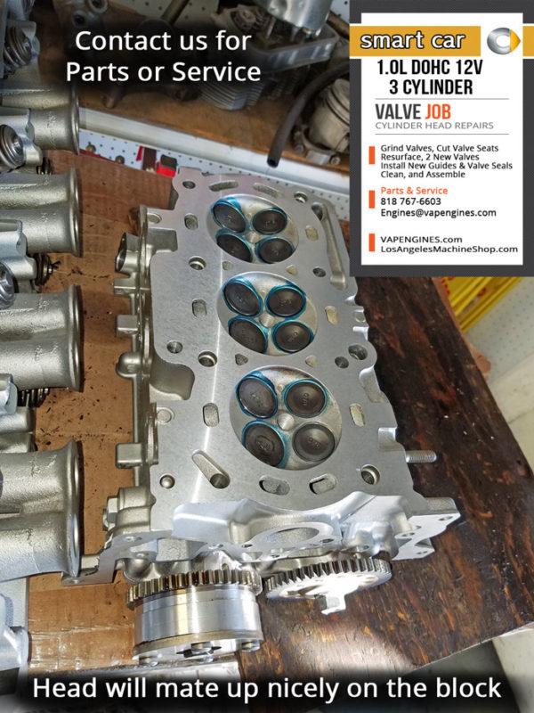 Smart car 1.0 DOHC 12 valve 3 cylinder head