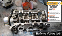 Before Valve Job Smart car 1.0 L3 cylinder head