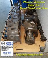 Machined Triumph head, crank, cam