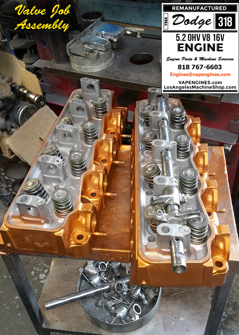dodge engine rebuild service los angeles machine shop dodge 318 cylinder heads