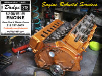 Rebuilt dodge 318 engine