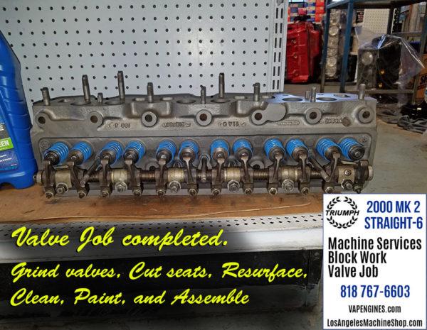 triumph 2000 cylinder head valve job