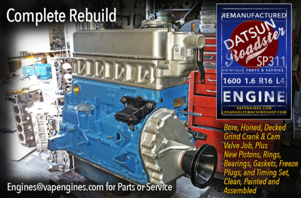 Datsun Roadster 1600 R16 Engine Rebuild
