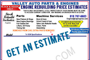 Engine Rebuilding Prices