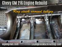 GM 216 oil pan clog