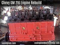 Chevrolet 216 Engine Rebuilding Service- Long block