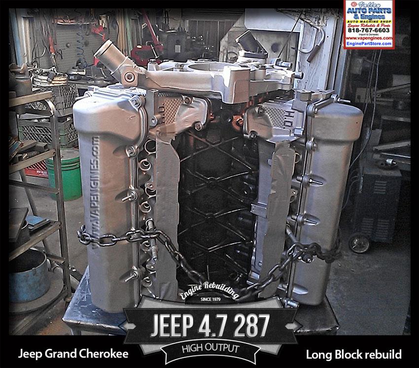 rebuilt jeep 4 7 v8 engine rebuild high output los. Black Bedroom Furniture Sets. Home Design Ideas
