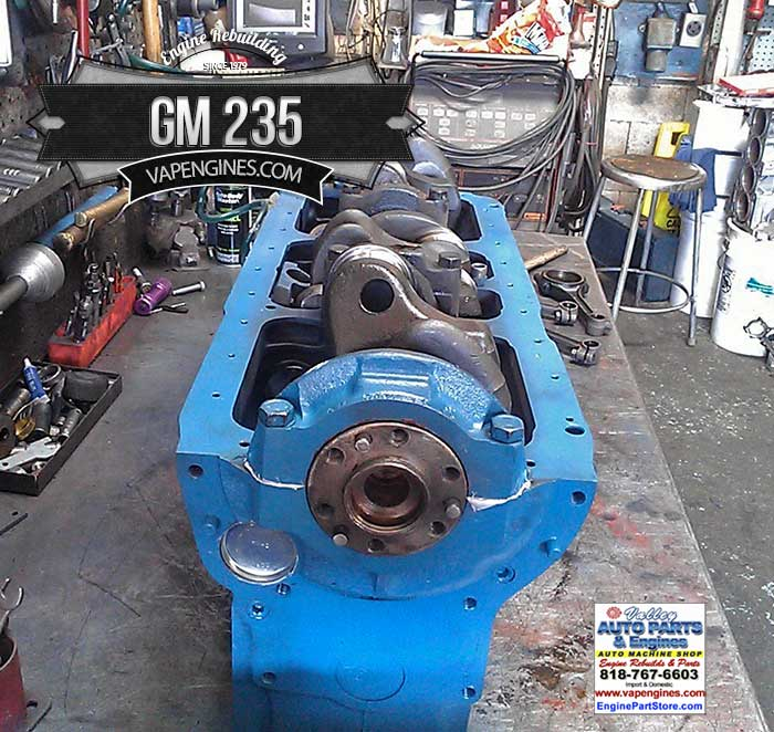 GM 235 Remanufactured Engine