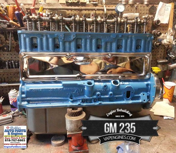 wiring a 58 chevy 235 rebuilt chevy gm 235 engine with chrome - los angeles ... fuse box diagram in a 1998 chevy s10 2 2l