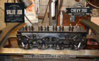 Assembling chevy 350 cylinder head during Valve Job.