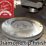 diamond tip flywheel surface