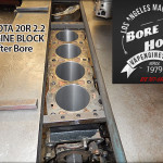 cylinder bore on Toyota 20R engine block