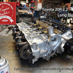 attach cylinder head to Toyota 20R