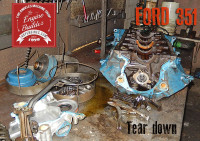 ford 351 engine tear down