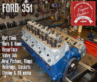 Ford 351 long block engine rebuild