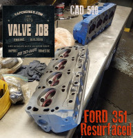 Ford 351 cylinder head resurfaced