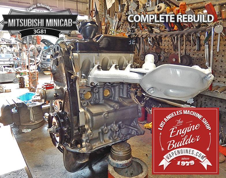Rebuilt 3G81 Mitsubishi Minicab engine