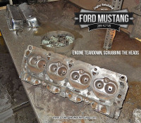 cylinder head teardown- Ford Mustang