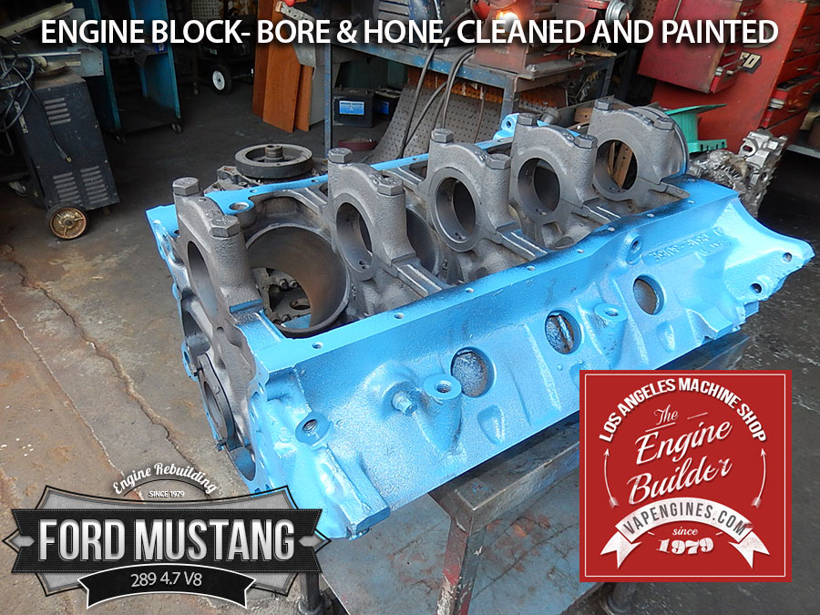 Painted ford 289 engine block bore and honed los angeles for Toyota 4 7 v8 crate motor