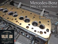 cut seats and resurfaced mercedes 240d 2.4 diesel cylinder head