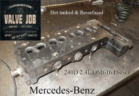 hot tanked mercedes 240d 2.4 cylinder head