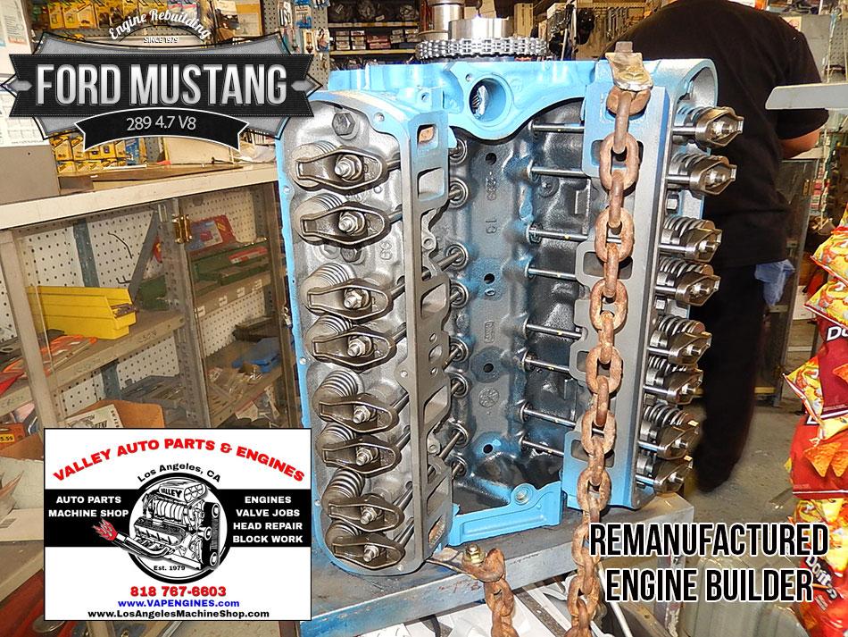 Ford Mustang 289 4 7 V8 Remanufactured Engine Los
