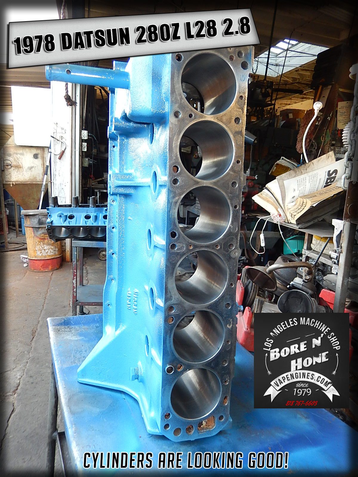 78 datsun 280z 2 8 remanufactured short block los angeles machine Datsun 280Z Parts bore n honed datsun 280z engine block