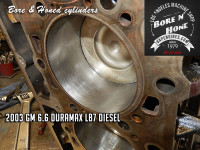 cylinder bore and hone-gm 6.6 duramax block