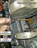 install oil injector tubes 6.6 duramax