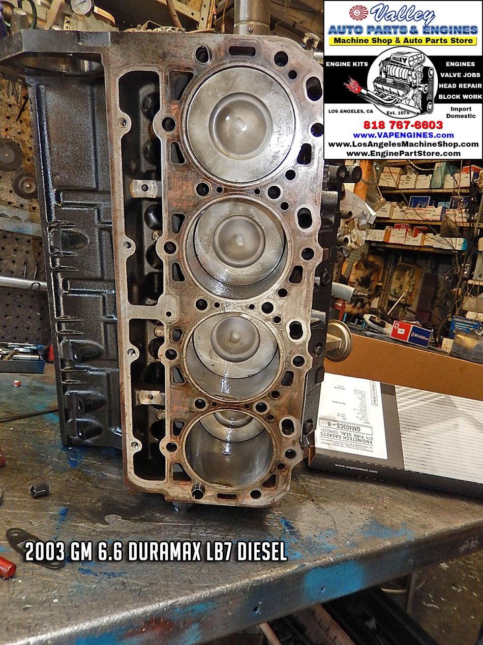03 GM 6.6 LB7 Duramax 32V V8 Remanufactured Engine - Los Angeles Machine Shop- Engine Rebuilder ...