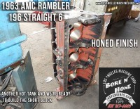 bore and honed Rambler 196 block