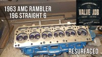 resurfaced amc rambler 196 cylinder head