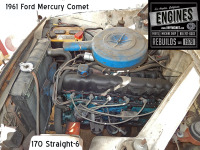 61 Mercury Comet Straight 6 engine
