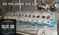 61 Ford Mercury Comet 170 cut seats on head