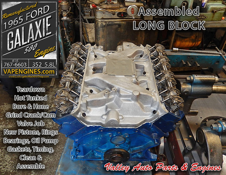 Remanufactured Long Block Ford Galaxie Builder on 65 Galaxie 500 Parts