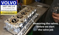 Valve measure Volvo s40 2.4